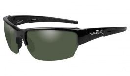 Wiley X Saint Sunglasses - Gloss Black / Smoke Green Polarised