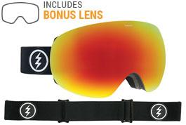 Electric EG3 Ski Goggles - Matte Black / Brose Red Chrome + Pink