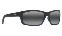 Maui Jim Kanaio Coast Prescription Sunglasses - Matte Translucent Blue Black