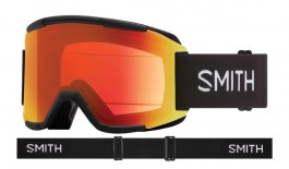 Smith Squad Ski Goggles - Black / ChromaPop Everyday Red Mirror + Yellow