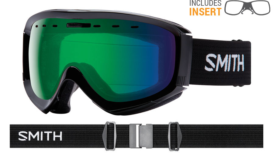 Smith Optics Prophecy Prescription Ski Goggles - Black / ChromaPop Everyday Green Mirror