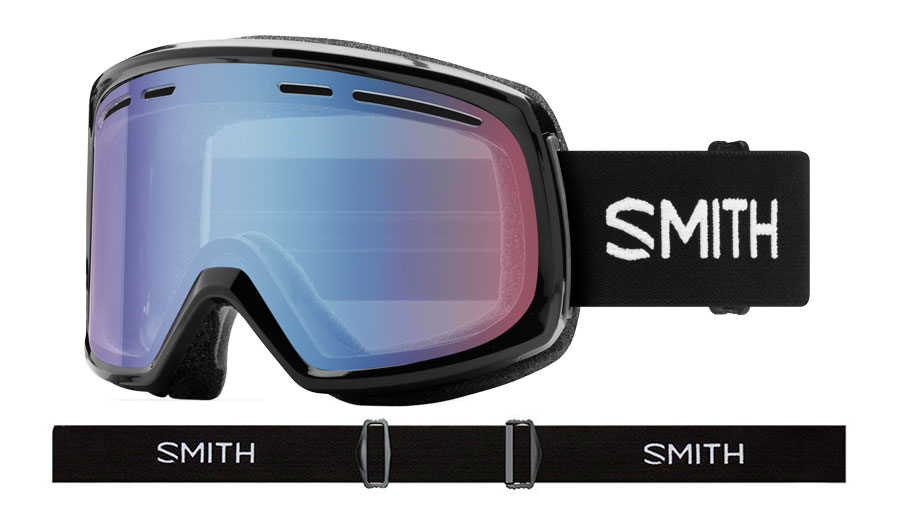 Smith Range Prescription Ski Goggles - Black / Blue Sensor Mirror