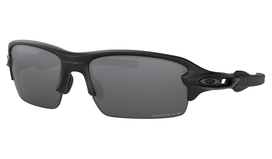 Oakley Flak XS Sunglasses - Matte Black / Prizm Black Polarised