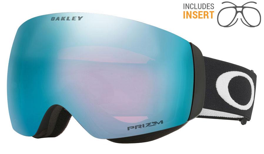 3b4c9f0f00f Oakley Flight Deck XM Prescription Ski Goggles. Frame  Matte Black. Lens  Prizm  Sapphire Iridium