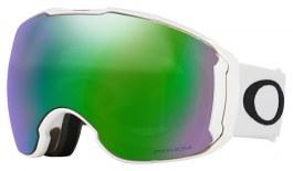 Oakley Airbrake XL Ski Goggles - Polished White / Prizm Jade Iridium + Prizm Sapphire Iridium