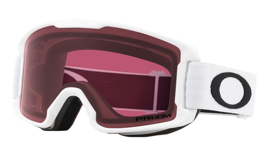 Oakley Line Miner Youth Ski Goggles - Matte White / Prizm Dark Grey
