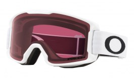 Oakley Line Miner Youth Ski Goggles - Matte White / Prizm Dark Grey