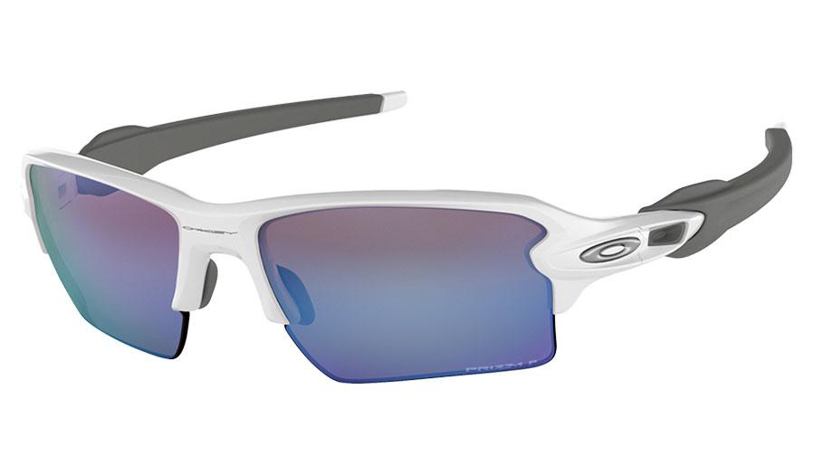 9e38c80b13f8 Oakley Flak 2.0 XL Sunglasses - Polished White   Prizm Deep Water ...