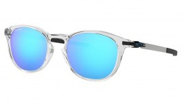Oakley Pitchman R Sunglasses - Polished Clear / Prizm Sapphire