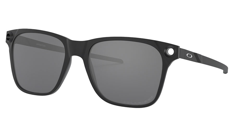 Oakley Apparition Sunglasses - Satin Black / Black Iridium Polarised