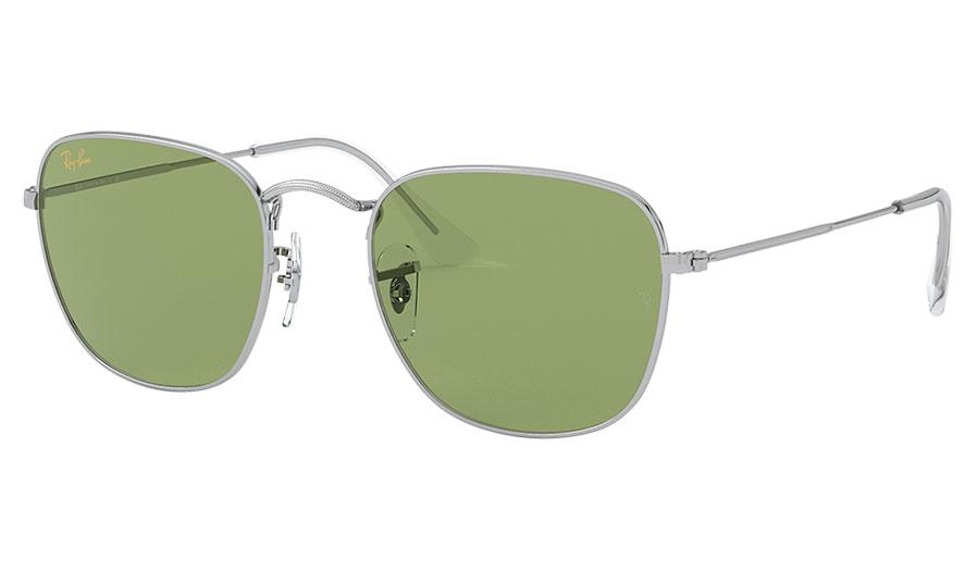 Ray-Ban RB3857 Frank Sunglasses - Silver / Light Green