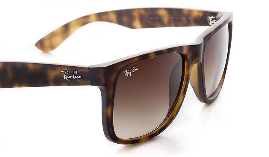 Ray Ban Rb4165 Justin Sunglasses Havana Rubber Brown