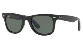 Ray-Ban RB4340 Wayfarer Ease Sunglasses - Black / Green Polarised