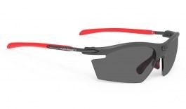 Rudy Project Rydon Prescription Sunglasses - ImpactRX Directly Glazed - Matte Graphite & Red
