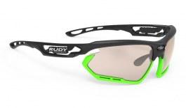 Rudy Project Fotonyk Prescription Sunglasses - Clip-On Insert - Matte Black & Lime / ImpactX 2 Photochromic Laser Brown