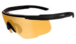 Wiley X Saber Advanced Prescription Sunglasses - Clip-On Insert - Matte Black / Light Rust