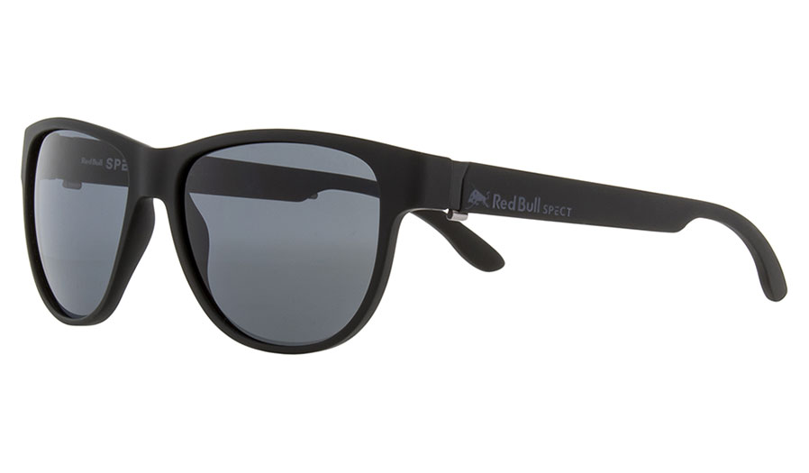 Red Bull Wing 3 Sunglasses - Matte Black / Smoke Polarised