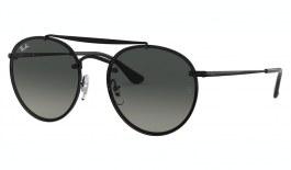 Ray-Ban RB3614N Blaze Round Double Bridge Sunglasses - Black / Grey Gradient