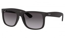 Ray-Ban RB4165 Justin Sunglasses - Black Rubber / Grey Gradient