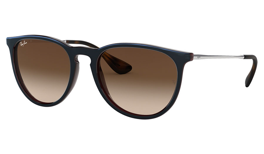 Ray-Ban RB4171 Erika Sunglasses - Brown & Reflective Blue / Brown Gradient
