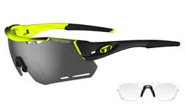 Tifosi Alliant Prescription Sunglasses - Clip-On Insert - Race Neon / Smoke + AC Red + Clear