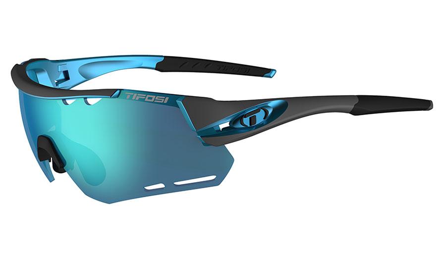 Tifosi Alliant Sunglasses - Gunmetal & Blue / Clarion Blue + AC Red + Clear