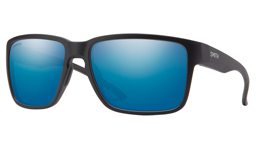 Smith Emerge Sunglasses - Matte Black / ChromaPop Blue Mirror Polarised