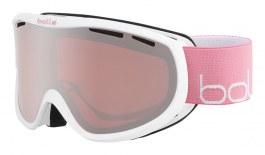 Bolle Sierra Ski Goggles - Shiny White & Pink / Vermillon Gun