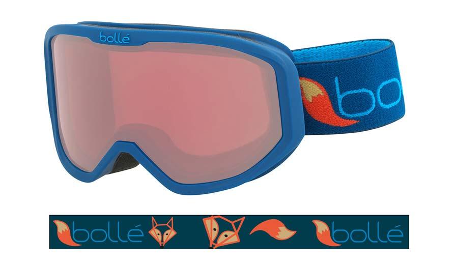 Bolle Inuk Ski Goggles - Matte Blue Fox / Vermillon