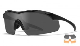 Wiley X Vapor Prescription Sunglasses - Clip-On Insert - Matte Black / Smoke Grey + Clear + Light Rust