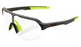 100% S2 Sunglasses - Soft Tact Cool Grey / Clear Smoke Photochromic
