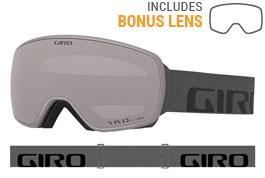 Giro Agent Prescription Ski Goggles - Grey Wordmark / Vivid Onyx + Vivid Infrared