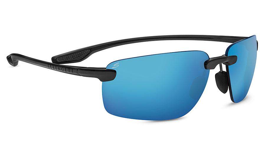 Serengeti Erice Sunglasses - Sanded Dark Grey / 555nm Blue Polarised Photochromic