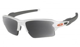 Oakley Flak 2.0 XL Prescription Sunglasses - Polished White (Orange Icon)