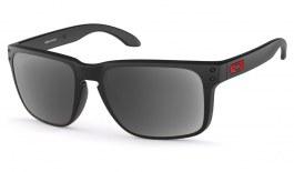 Oakley Holbrook XL Prescription Sunglasses - Matte Black (Red Icon)