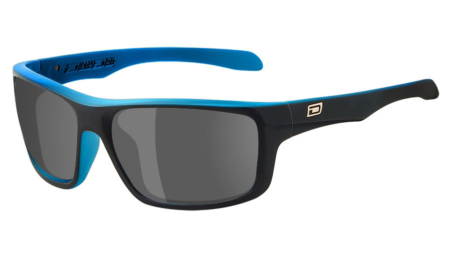 Dirty Dog Axle Prescription Sunglasses - Satin Black & Crystal Blue