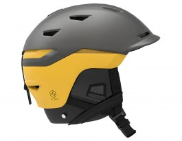 Salomon Sight Custom Air Ski Helmet - Grey & Lemon Chrome