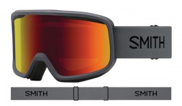Smith Frontier Ski Goggles - Charcoal / Red Sol-X Mirror