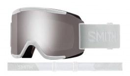 Smith Squad Prescription Ski Goggles - White Vapor / ChromaPop Sun Platinum Mirror + Yellow