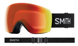 Smith Skyline Ski Goggles - Black / ChromaPop Everyday Red Mirror