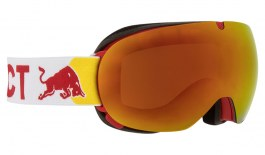 Red Bull Magnetron Ace Prescription Ski Goggles - Matte Red & White / Red Snow + Cloudy Snow
