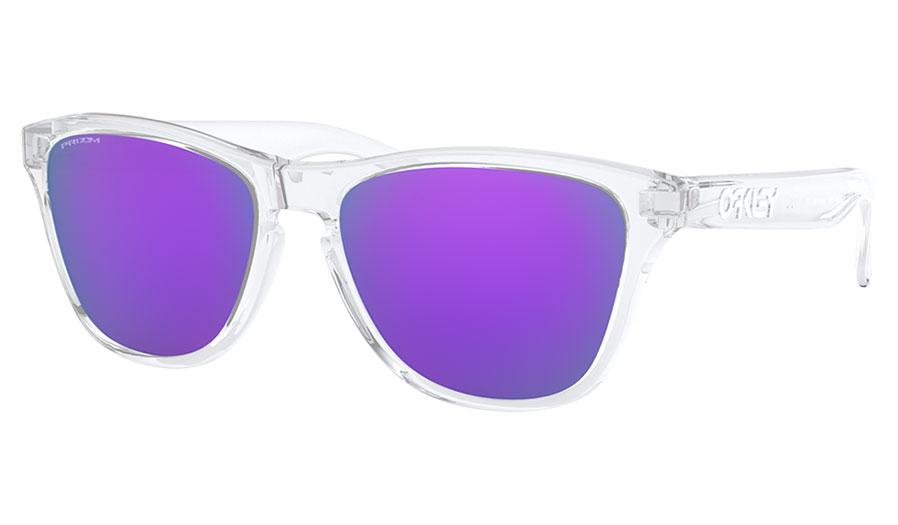 Oakley Frogskins XS Sunglasses - Polished Clear / Prizm Violet