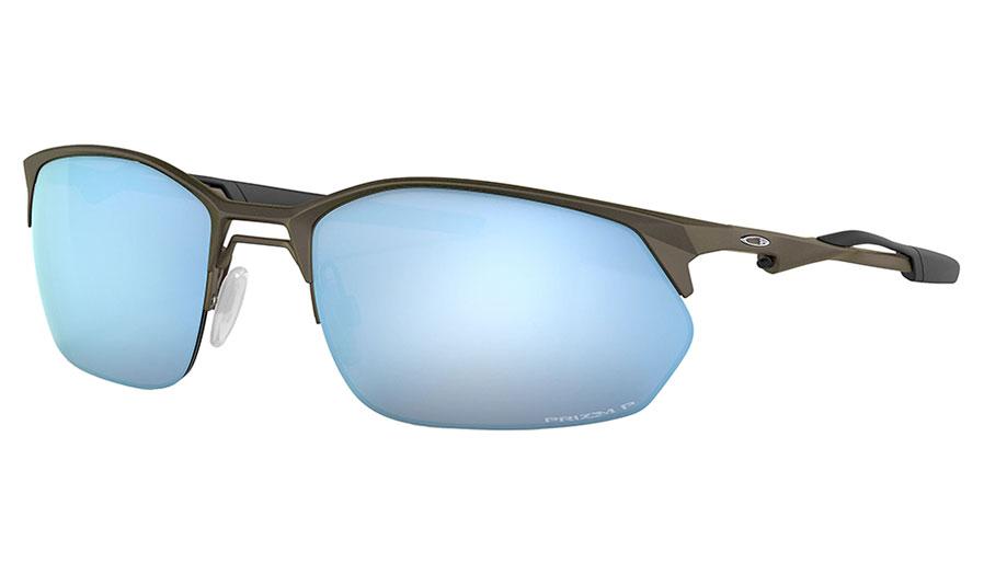 Oakley Wire Tap 2.0 Sunglasses - Satin Lead / Prizm Deep Water Polarised