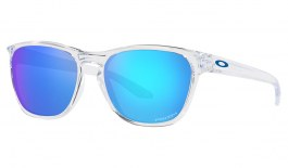 Oakley Manorburn Sunglasses - Polished Clear / Prizm Sapphire
