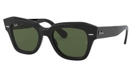 Ray-Ban RB2186 State Street Sunglasses - Black / Green