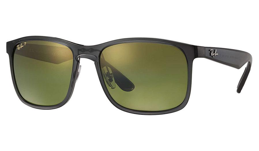Ray Ban Rb4264 Sunglasses Grey Green Mirror Chromance