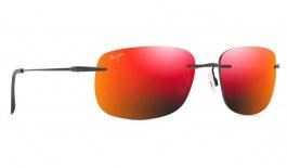 Maui Jim Ohai Sunglasses - Matte Black / Hawaii Lava Polarised