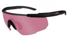 Wiley X Saber Advanced Prescription Sunglasses - Clip-On Insert - Matte Black / Vermillion