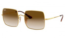 Ray-Ban RB1971 Square Sunglasses - Gold / Brown Gradient