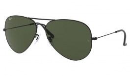 Ray-Ban RB3026 Aviator Large Metal II Sunglasses - Black / Green